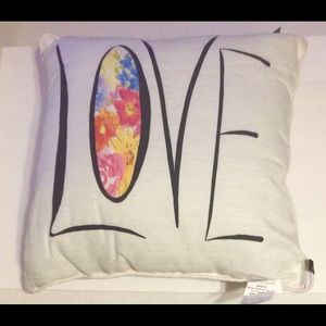 LOVE And Flowers 19 in. Pillow Edith Collection
